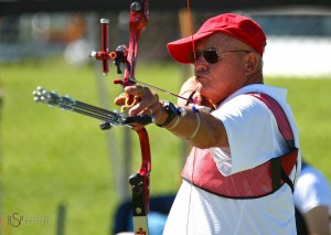 Ed Eliason takes aim during the Utah Summer Games, Cedar City, Utah, June 28, 2014 | Photo by Robert Hoppie, asppix.com, St. George News