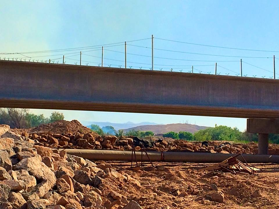 Mall Drive Bridge construction project on schedule for September completion, St. George, Utah, June 6, 2014   Photo by Kimberly Scott, St. George News