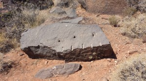 Signs of quarrying at the Temple Quarry Trail. St George Ut. June 24, 2014 | Photo by T.S Romney St George News