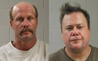 Travis Jay Brown, right, and Arthur Collins, both of Washington, Utah, booking photos posted June 27, 2014 | Photos courtesy of Washington County Sheriff's Office, St. George News