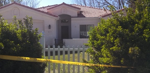 Home of the woman found dead by sheriff's deputies, victim of an apparent homicide, Toquerville, Utah, March 19, 2014 | Photo by Mori Kessler, St. George News