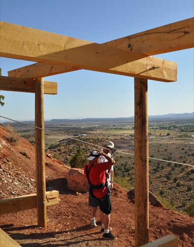 A man prepares to ride the Kanab Zip Line, Kanab Utah, date not specified | Photo courtesy of Kanab Zip Line, St. George News