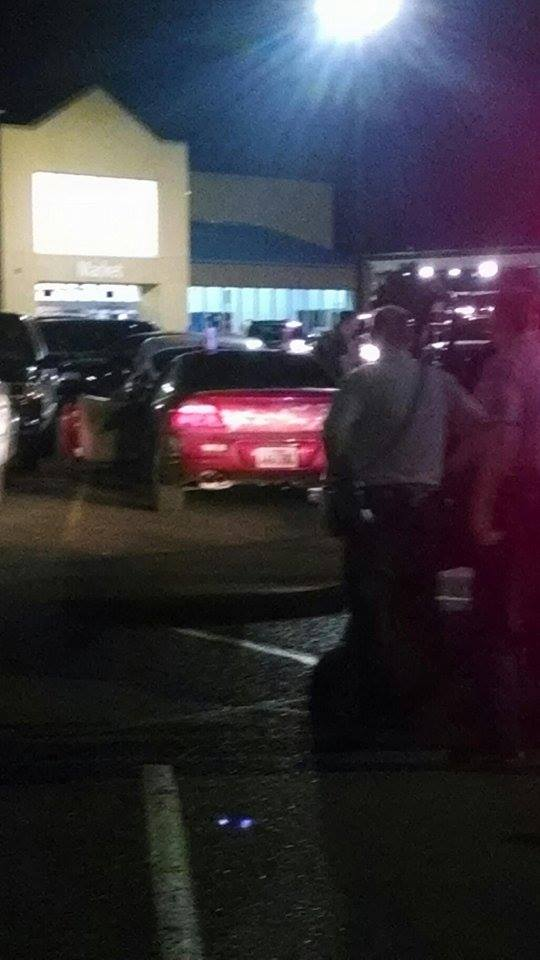 Car reported stolen leads to felony stop, Wal-Mart parking lot, Washington, Utah, July 19, 2014 | Photo by Christian Warmsley, St. George News