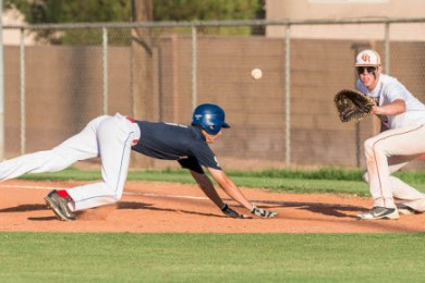 St. George American Legion baseball vs. Cedar summer squad, St. George, Utah, July 23, 2014 | Photo by Dave Amodt, St. George News,