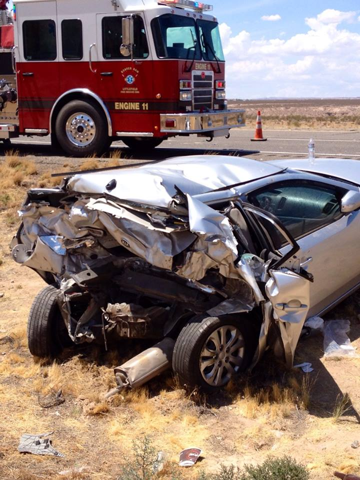 Two-vehicle collision in the Virgin River Gorge blocks Interstate 15 northbound traffic, Virgin River Gorge, Arizona, July 29, 2014 | Photo by Sgt. John Bottoms, for St. George News