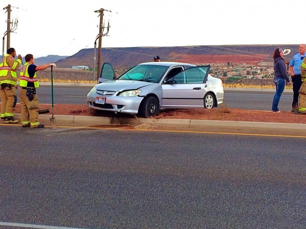 Hit-and-run on Red Hills Parkway below the Dixie Hill, or Sugarloaf, St. George, Utah, July 6, 2014 | Photo by Kimberly Scott, St. George News