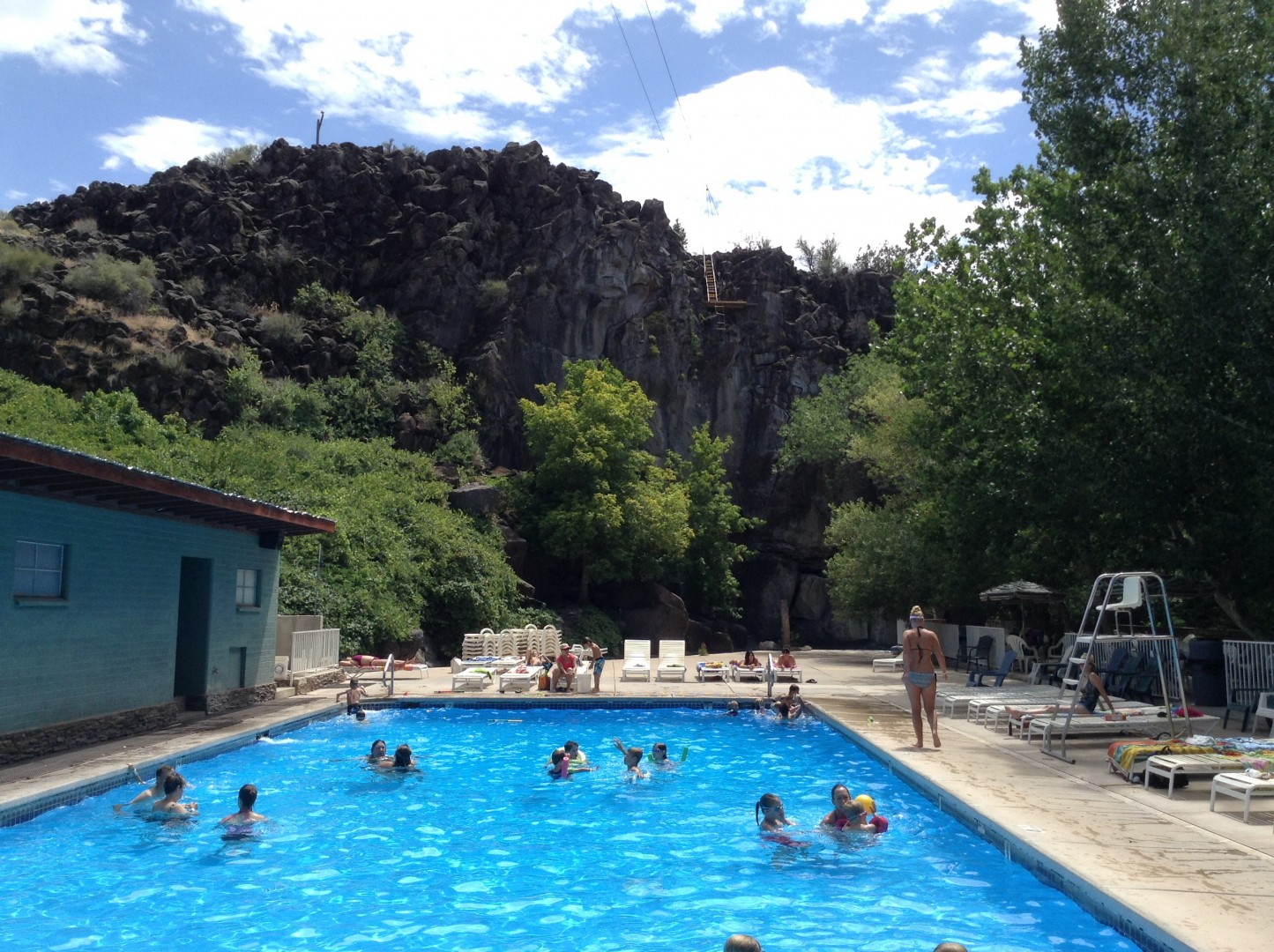 Swimmers Enjoy A Break From The Heat In Crawdad Canyon At Veyo Pool