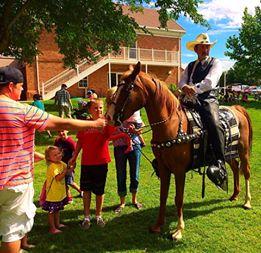 "Josh Thompson and ""Kye the Wonder Horse"" at the Pioneer Day Celebration, Washington, Utah, July 24, 2014 | Photo by Kimberly Scott, St. George News"