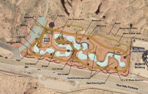 Overhead map detailing what the Red Hills Desert Garden will look like once completed | Image courtesy of the Washington County Water Conservancy, St. George News