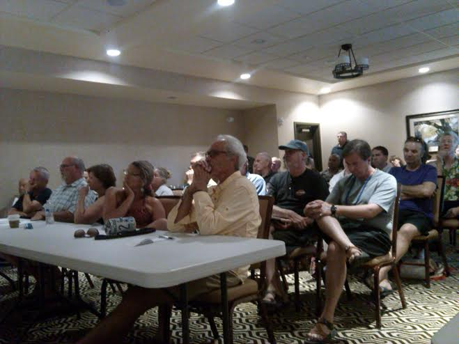 Springdale business owners and members of the community listen to the proposal at the scoping meeting held at the Hampton Inn & Suites, 1127 Zion Park Boulevard, Springdale, Utah, July 22, 2014 | Photo by Aspen Stoddard