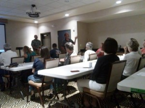 Paiute Indian Tribe of Utah Economic Development Director Gaylord Robb explains the historical significance of the Paiutes in Zion National Park, Hampton Inn & Suites, 1127 Zion Park Boulevard, Springdale, Utah, July 22, 2014 | Photo by Aspen Stoddard, St. George News
