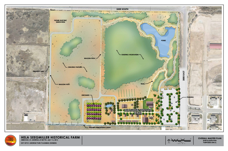 Master plans for the Hela Seegmiller Historic Park, St. George, Utah | Photo courtesy of Millie Cockerill, St. George News
