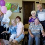 Friends celebrate Fern Williams' 104th birthday at The Retreat at SunRiver, St. George, Utah, Aug. 27, 2014 | Photo by Rhonda Tommer, St. George News