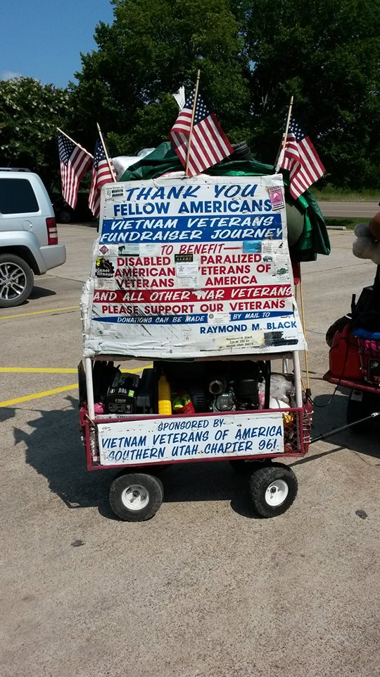 Raymond M. Black's scooter trailer, Groesbeck, Texas, circa July 2014 | Photo courtesy of Raymond M. Black, St. George News