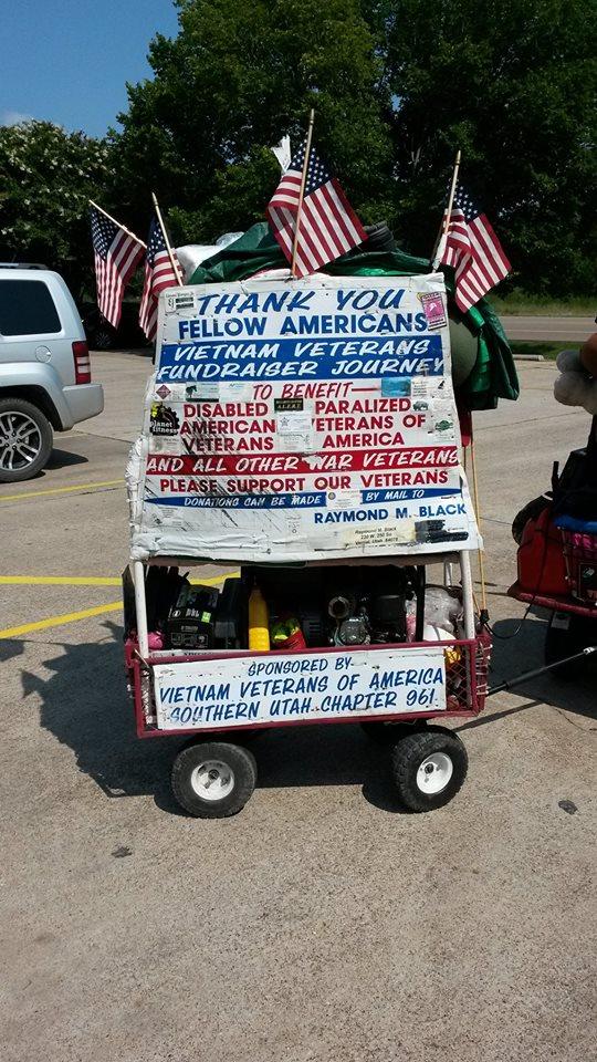 Raymond M. Black's scooter trailer, Groesbeck, Texas, circa July 2014 | Photo courtesy of Raymond M. Black, St. George News