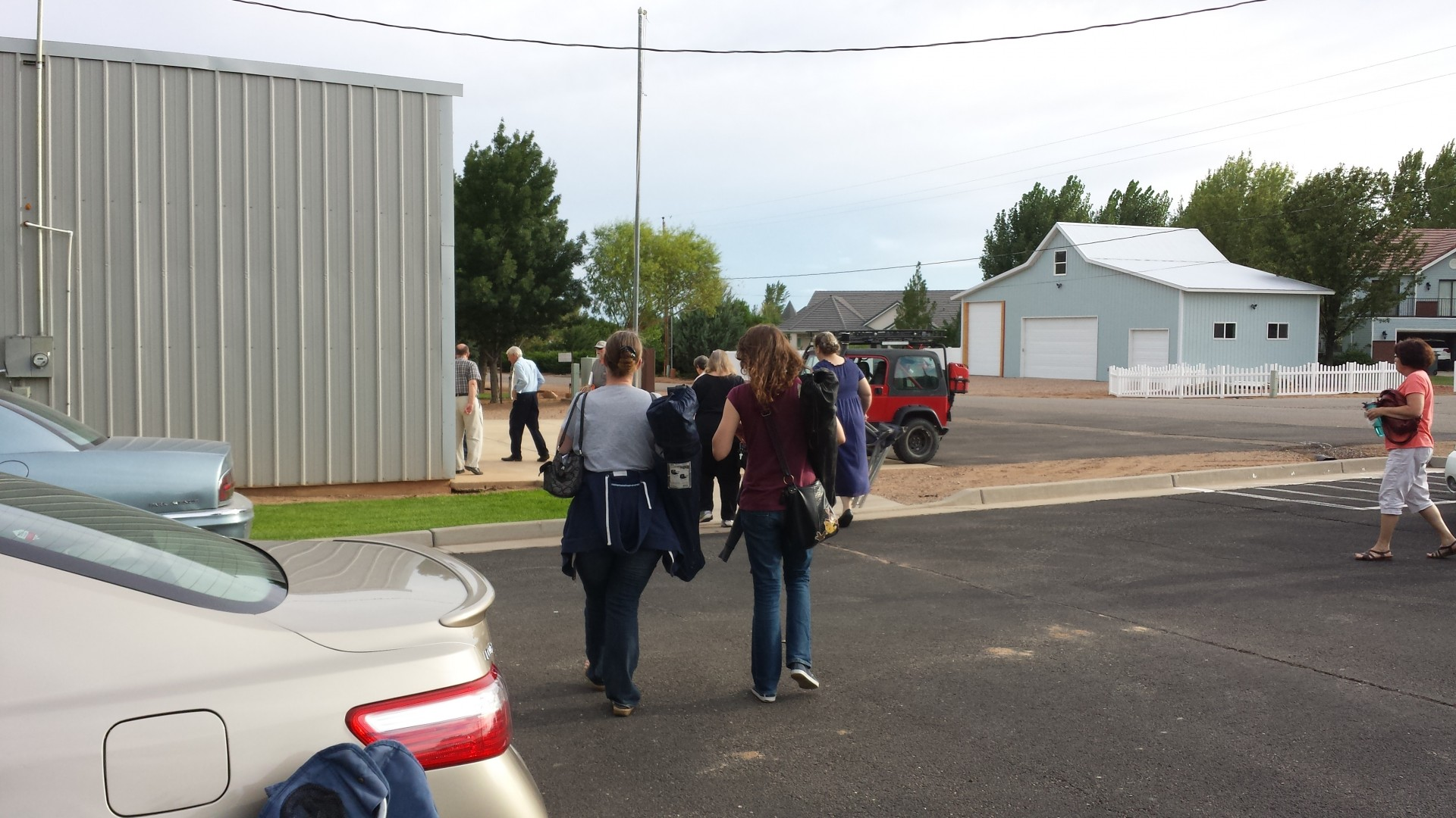 Prep meeting in Diamond Valley. Diamond Valley Fire House. Aug 12, 2014   Photo by T.S Romney St. George News