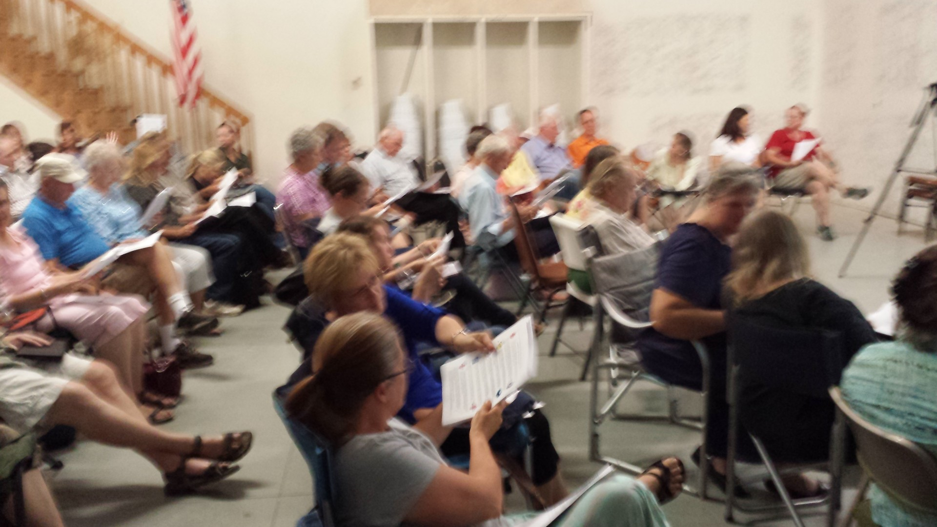 Prep meeting in Diamond Valley. Diamond Valley Fire House. Aug 12, 2014 | Photo by T.S Romney St. George News