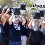 Staff members of Wilson Electronics dump buckets of ice water onto their heads for the ALS Ice Bucket Challenge in St. George on Aug. 21, 2014 | Photo by Devan Chavez, St. George News