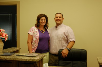 Kathy and Jared Gough, business partners at Total Balance Health Wellness and Training Center welcome clients at the reception area, St. George, Utah, September 4, 2014 | Photo by Hollie Reina, St. George News