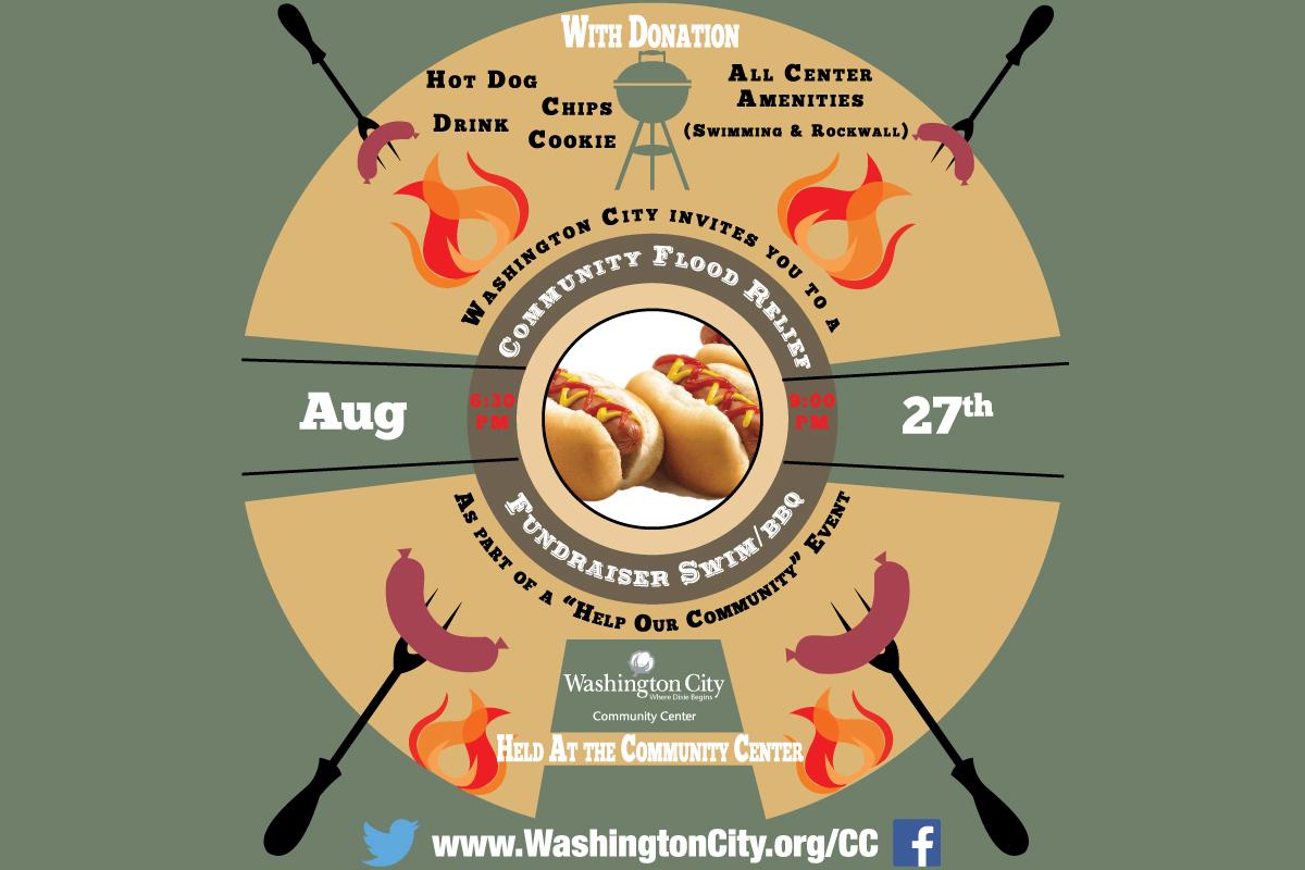 Community Flood Relief Invitation   Image courtesy of Washington City   Click on image to enlarge
