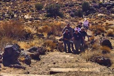 Emergency crews carry hiker out of Snow Canyon State Park, Santa Clara, Utah, Aug. 18 | Photo courtesy of Ivins City Fire and Rescue, for St. George News