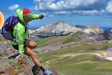 Kelsey Buchanan scrambling off the summit of Delano Peak towards the east side basins of the Tushar Mountains, Fishlake National Forest, August 1, 2014   Photo by Drew Allred, St. George News