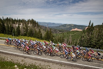 Riders in the Larry H. Miller Tour of Utah take on the mountains near Cedar City, Utah, Circa July 30, 2013 | Photo courtesy of Cedar City Events