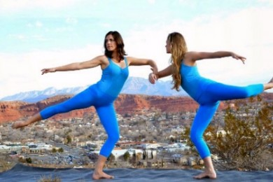 Dancers Camille Anthian Bahoravitch (L) and Micadyn Nicole Sanders pose for a photo in Southern Utah's Dixie, St. George, Utah, date not specified | Photo courtesy of Summer Belnap Robertson, St. George News
