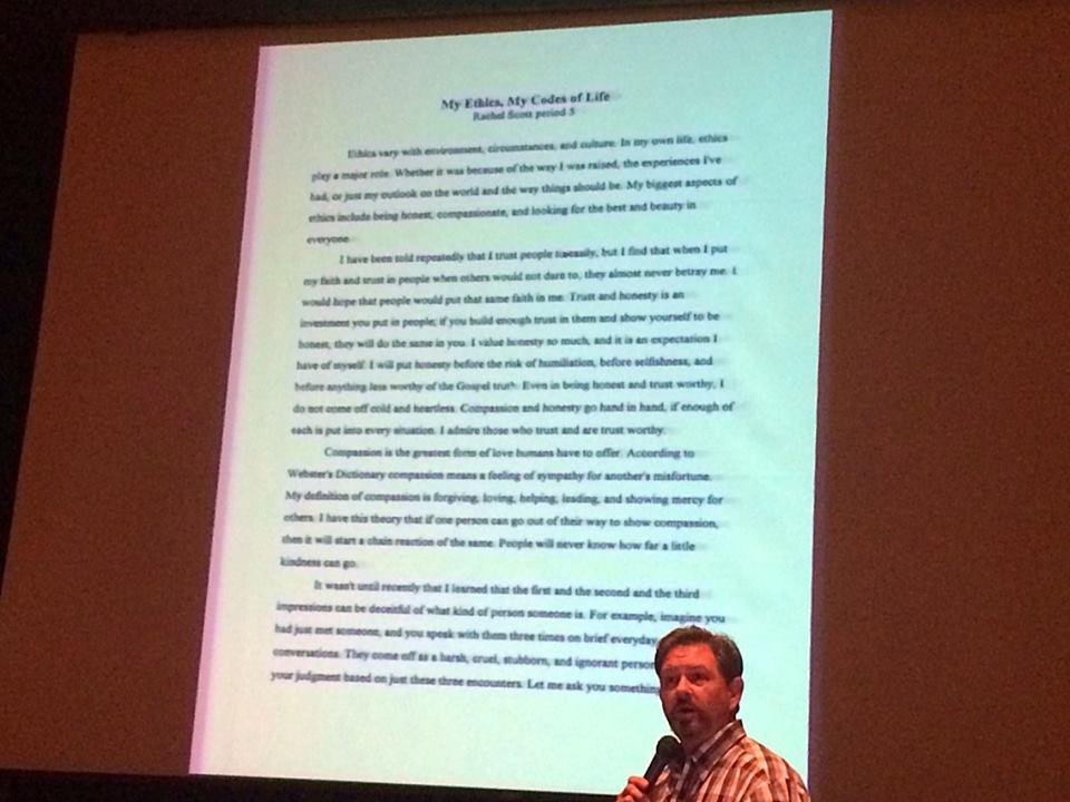 rachels scotts essay -- rachel joy scott, august 5 rachel scott was an inspired diary keeper and essay writer.