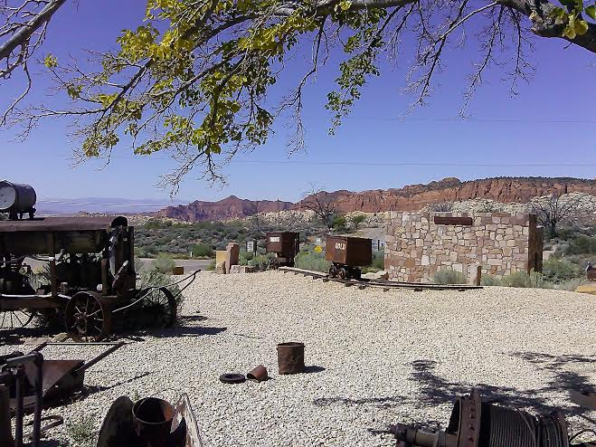 Old mining equipment and contraptions on display outside of the Wells Fargo Silver Reef Museum located at 1903 Wells Fargo Rd. in Silver Reef, Utah, Aug. 26, 2014 | Photo by Aspen Stoddard, St. George News