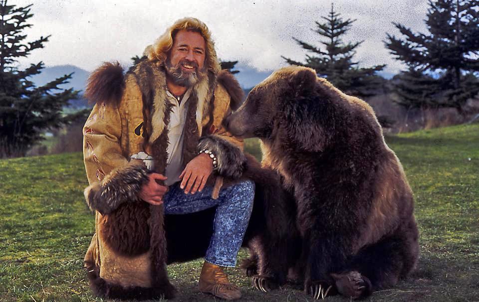 """The original """"Grizzly Adams,"""" Dan Haggardy."""