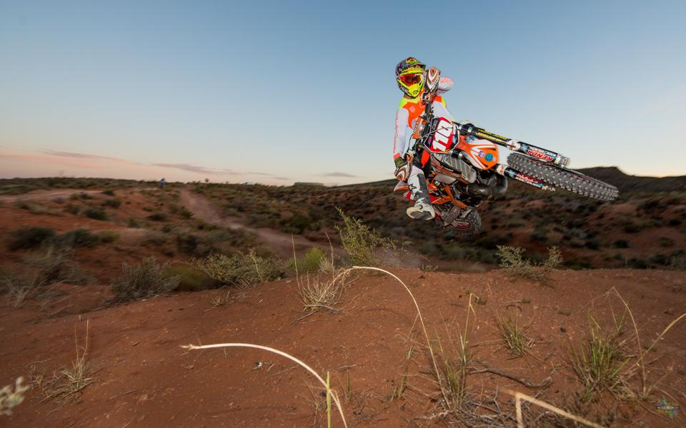 Skyler Howes during a desert race, location and date unspecified | Photo by Trystan Guard Photography, courtesy of Skyler Howes, St. George News