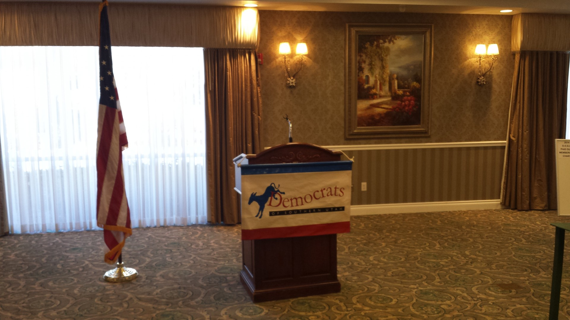 Charles Stormont Democratic Attorney General Candidate. Abbey Inn, St. George, Utah Sept 15, 2014   Photo by T.S Romney St. George News