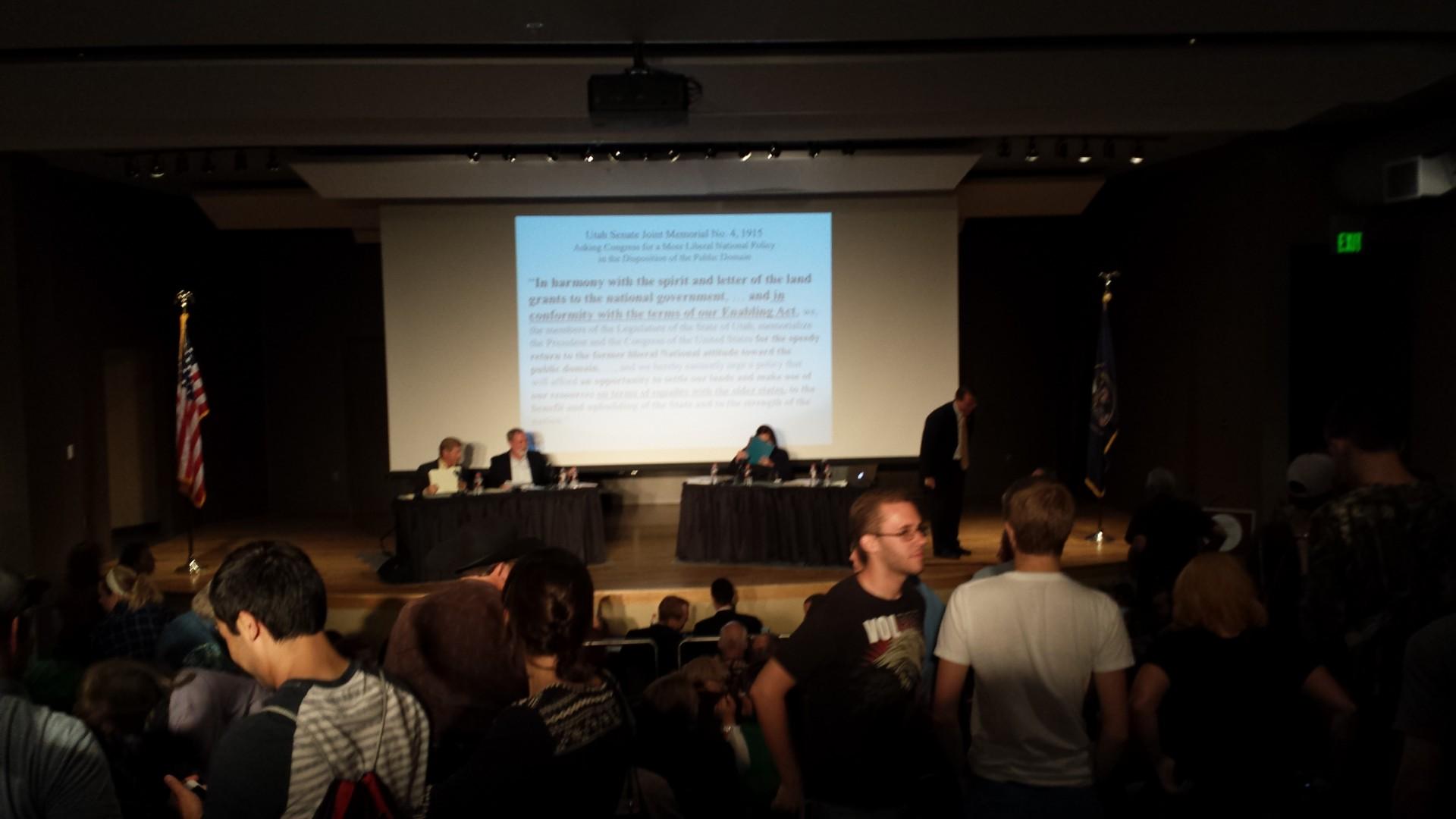 Who should control public lands debate. SUU, Cedar City, Utah Spetember 19, 2014 | Photo by T.S Romney St. George News