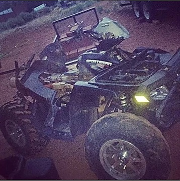 A damaged four-wheeler from a hit and run incident; the family has chosen not to press charges, Hildale, Utah, date not specified | Photo courtesy of Jesseca Jessop, St. George News