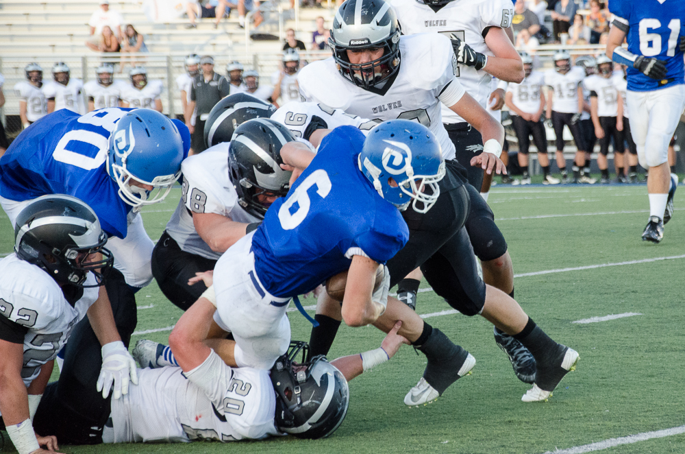 Dixie's Jaden Harrison (6),  Riverton at Dixie, St. george, Utah, Sept. 5, 2014 | Photo by Rachell Gee, St. George News