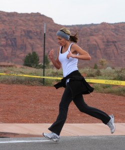 Kami Ellsworth goes out for a run, St. George, Utah, Date not specified | Photo courtesy of Kami Ellsworth, St. George News