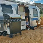 Tami Thomas at the Airstream motel, Shooting Star RV Resort, Escalante, Utah, Sept. 13, 2014 | Photo by Drew Allred, St. George News