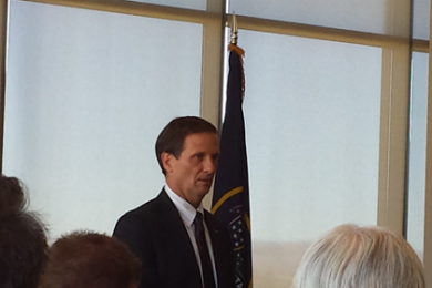 Rep Chris Stewart speaks to local leaders at Dixie State University. DSU, St. George, Utah Sept 24, 2014   Photo by T.S Romney St. George News