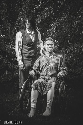 """Dan Fowlks and Rich Hill, actors in """"A Tale Told Heart,"""" pose for a casting photo at ____ on _____ 