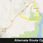 Alternate route around Valley of Fire, Nevada, Sept. 9, 2014 | Map created in Google Maps, St. George News