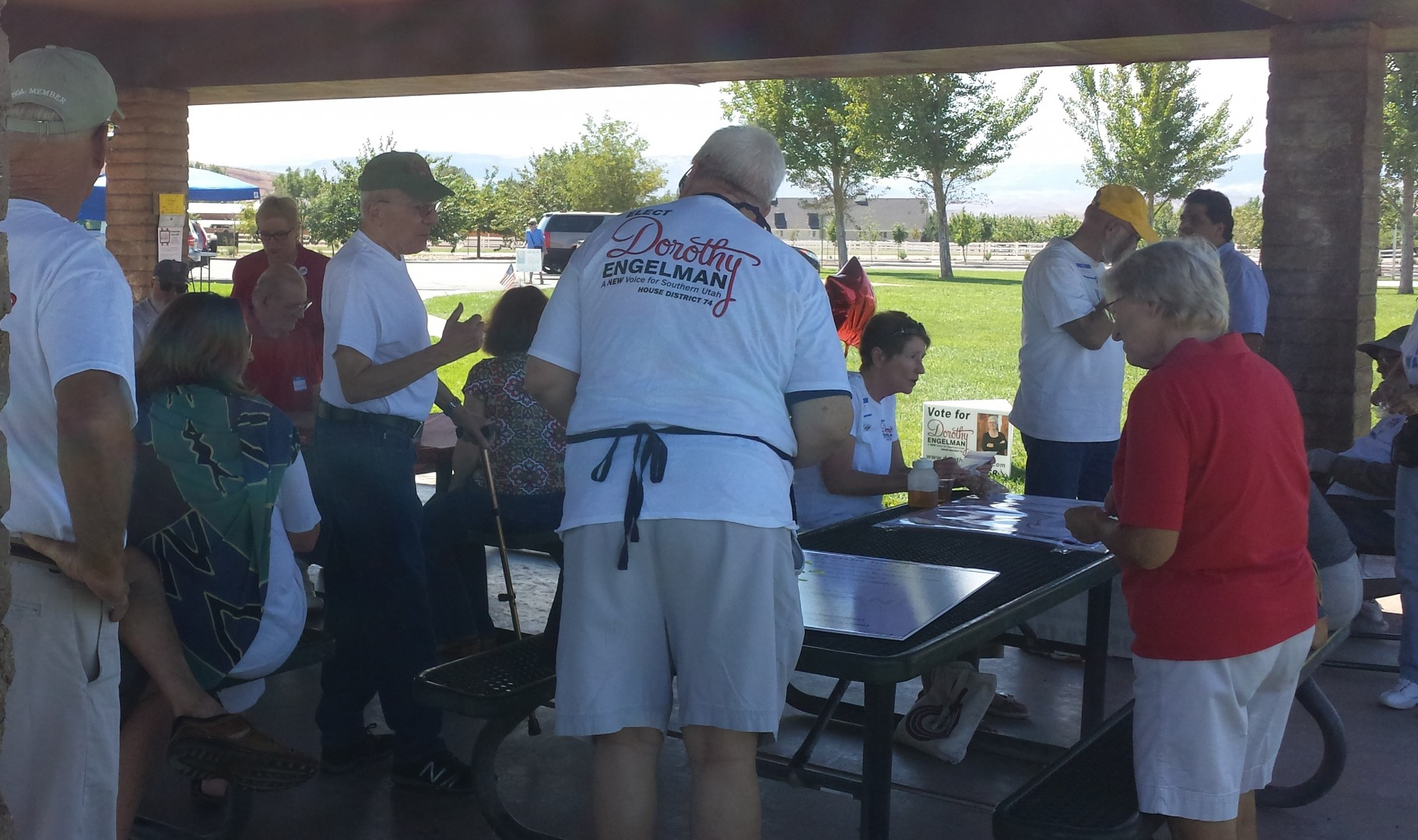 Dorothy Engelman campaign kickoff. Bloomington Park, St. George, Utah. Sept 6, 2014 | Photo by T.S Romney St. George News