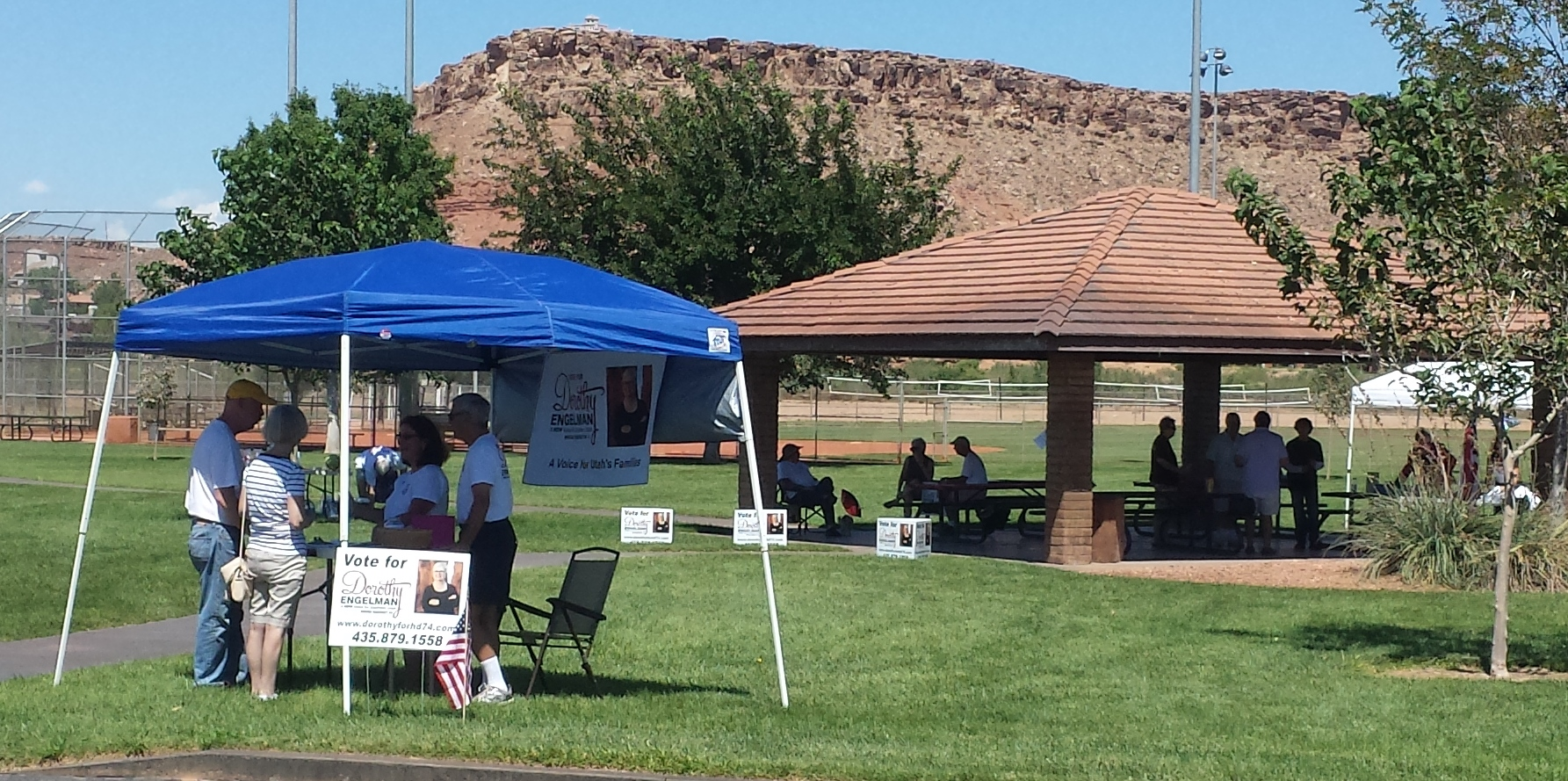 Dorothy Engelman campaign kickoff. Bloomington Park, St. George, Utah. Sept 6, 2014 | Photo by T.S Romney St. George News
