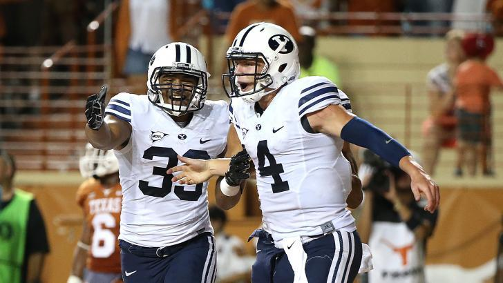 Taysom Hill (4) will start at quarterback. | Photo courtesy BYU Athletics
