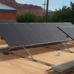 Newly installed solar panels at the Ivins City Fire Department building, Ivins, Utah, date not specified | Photo courtesy of Ivins City, St. George News
