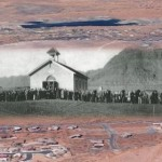 Overlaid image: Dedication of the Ivins LDS Church, Ivins, Utah, circa 1926 | Photo courtesy of Jenny Johnson, St. George News