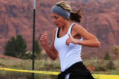 Kami Ellsworth, St. George Marathon race operations manager, goes out for a run, St. George, Utah, date not specified | Photo courtesy of Kami Ellsworth, St. George News
