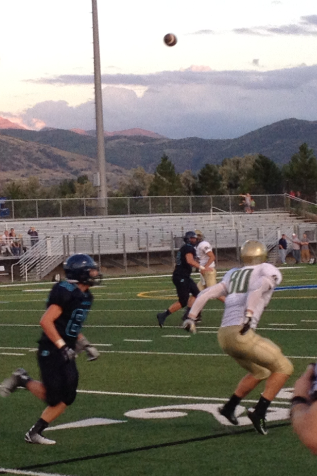 Chance Thorkelson prepares to catch the ball, Snow Canyon at Juan Diego, Draper, Utah, Sept. 5, 2014 | Photo by AJ Griffin, St. George News