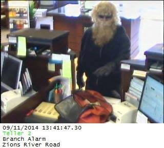 An image of the robbery suspect, St. George, Utah, Sept. 11, 2014 | Image courtesy of St. George Police Department, St. George News