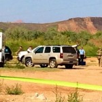 The scene where the suspect was brought down, Washington, Utah, Sept. 11, 2014 | Photo by Kimberly Scott, St. George News